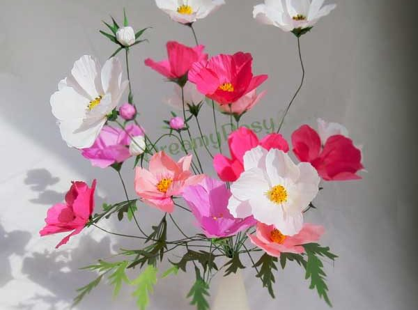 How to make cosmos paper flower free template cosmos paper flower best cosmos flower mightylinksfo