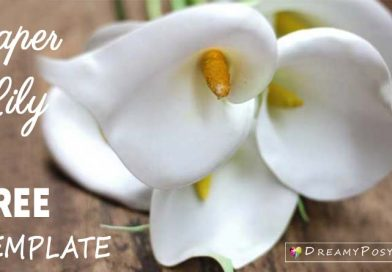 Paper Calla Lily, free template and tutorial, paper flower tutorial