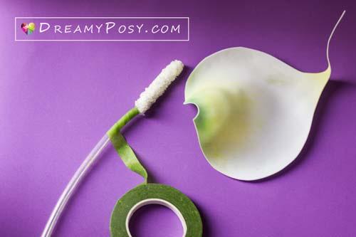 paper Calla Lily tutorial, free template