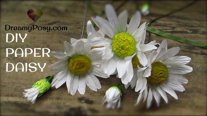 How to DIY paper daisy flower