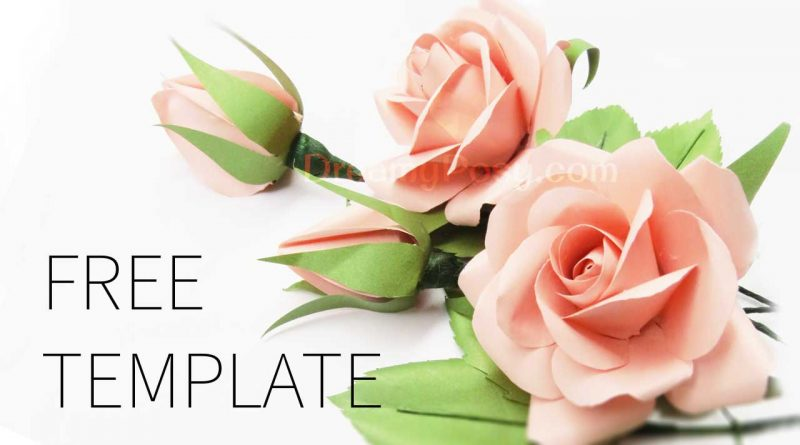 Easy to make best paper rose with free template and tutorial for Free printable paper flower templates