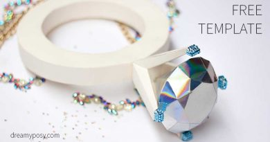 giant diamond ring, paper diamond ring, paper diamond