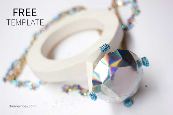 giant diamond ring, paper diamond ring, paper diamond