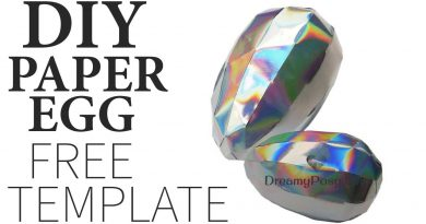 paper egg, Easter paper egg, DIY easter egg, dragon egg, dragon paper egg, diy, free template,