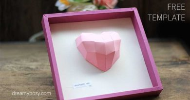 paper 3D heart, diy gift, diy decor