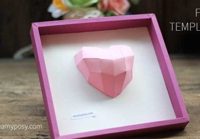How to make a paper 3D heart frame, free template