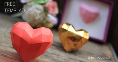 3d heart, paper heart, 3d paper heart, paper 3D heart