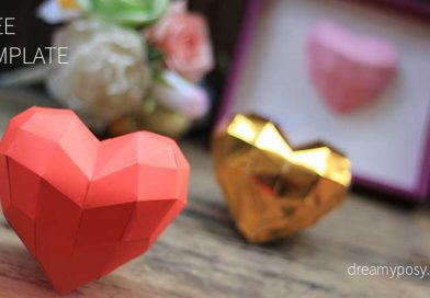 How to make paper 3D heart, free template