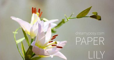 paper lily, paper flower, free template, free tutorial