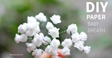 Paper baby's breath tutorial, so easy