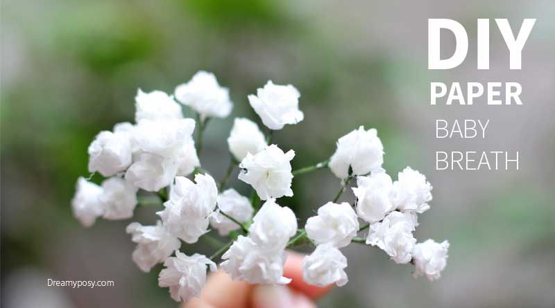 Super simple and realistic to make baby breath paper flower paper babys breath tutorial so easy mightylinksfo