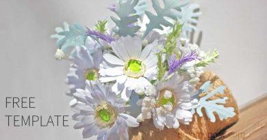 Gerbera paper bouquet, paper gerbera, paper flower, free template, free tutorial