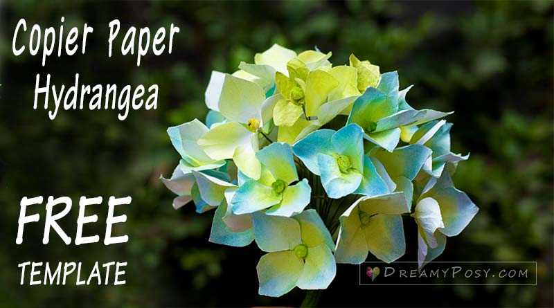 how to make hydrangea paper flower from printer paper  so