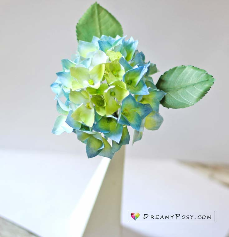 How to make hydrangea paper flower from printer paper so simple free template and tutorial to make hydrangea paper flower paper flowers flower making mightylinksfo