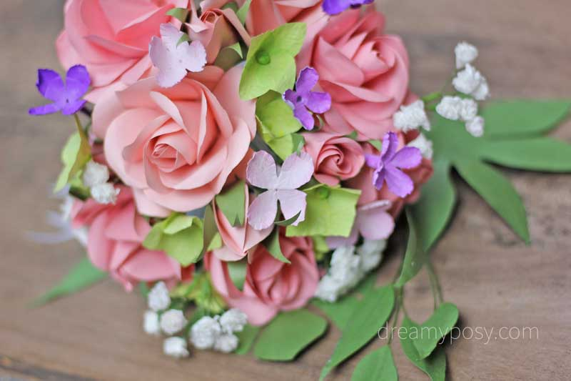 How To Make Rose Paper Bouquet Free Template And Full Tutorial