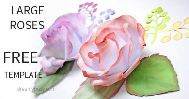 Tutorial for backdrop rose from printer paper, FREE template