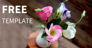paper lisanthus, paper flower, free template, free tutorial