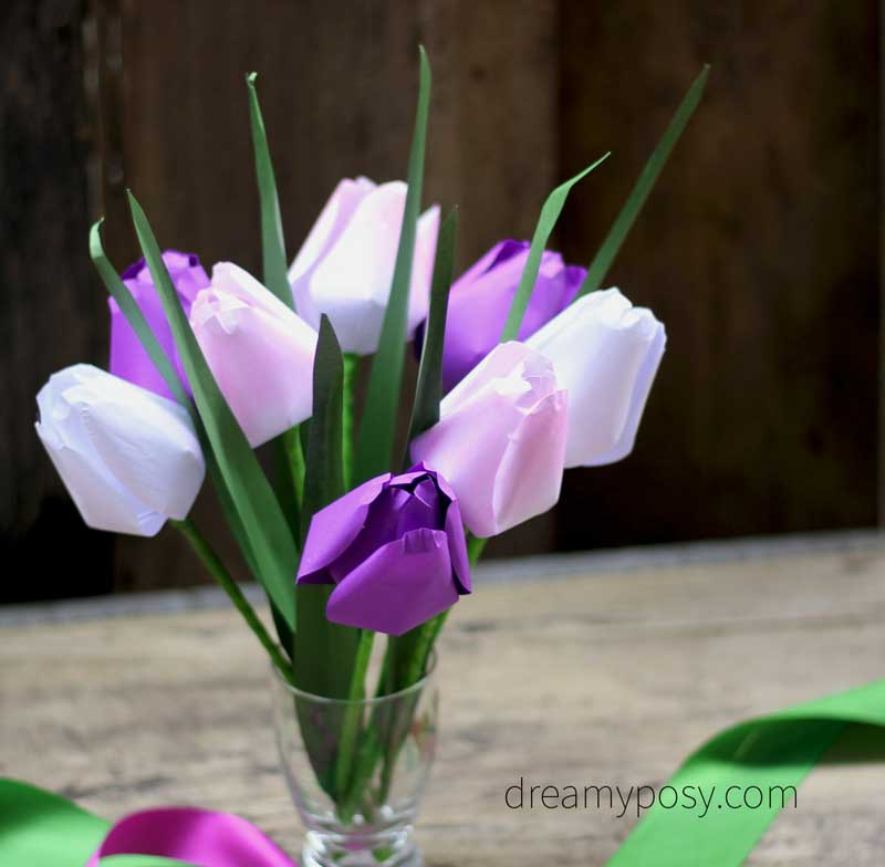 How To Make Paper Tulip From Printer Paper Free Template
