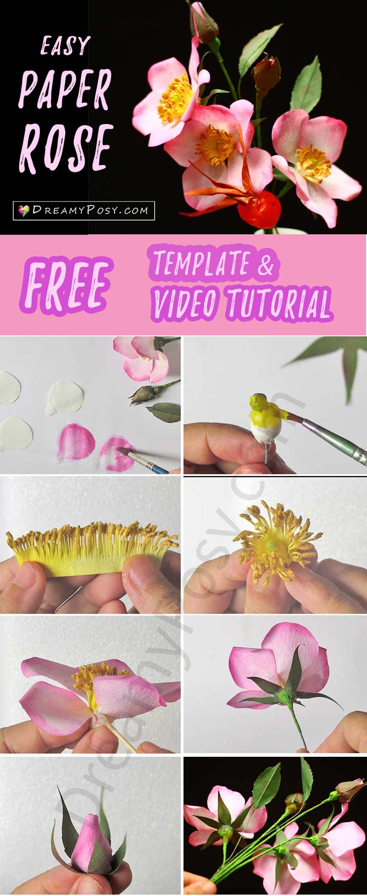 How To Make Coffee Filter Roses So Realistic Free Template