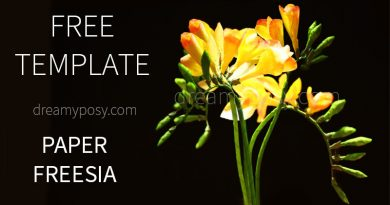 paper flower, freesia paper flower, free template, free tutorial