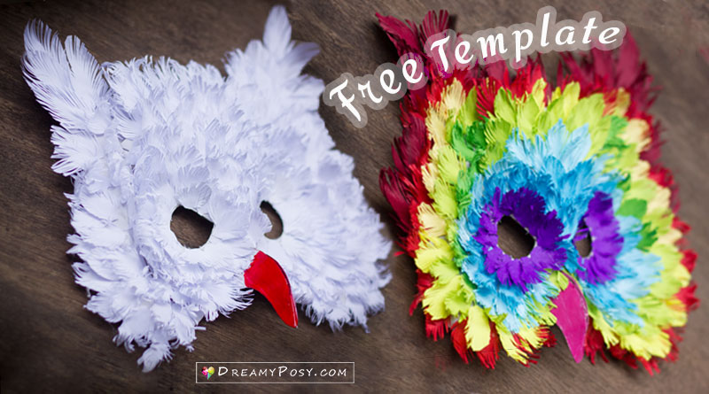 Construction paper free templates and tutorials dreamyposy how to make 3d owl paper mask from recycles free template mightylinksfo