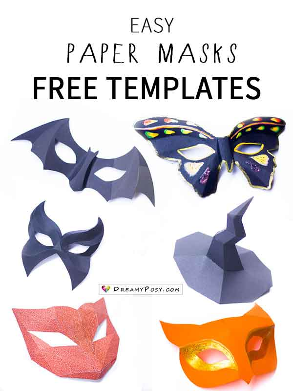 how to make easy paper masks free template so fast