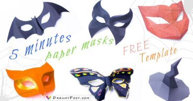 easy paper masks, paper mask, free template, halloween customs