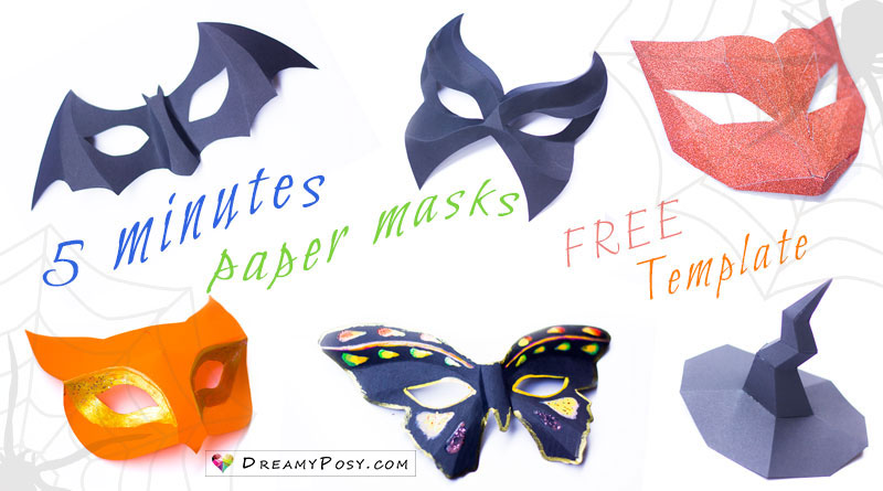 How to make easy paper masks, FREE template, so fast