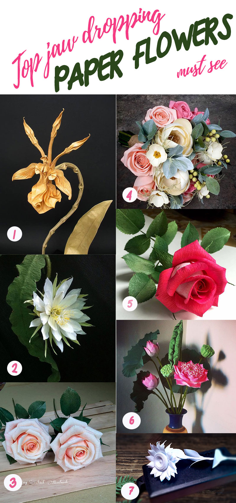 Best Paper Flowers You Will See With Jaw Drop Must See