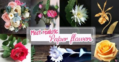 Best paper flowers, realistic paper flower,s