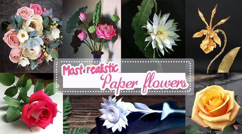 Free Paper Flowers Tutorials How To Make Paper Flowers Step By Step