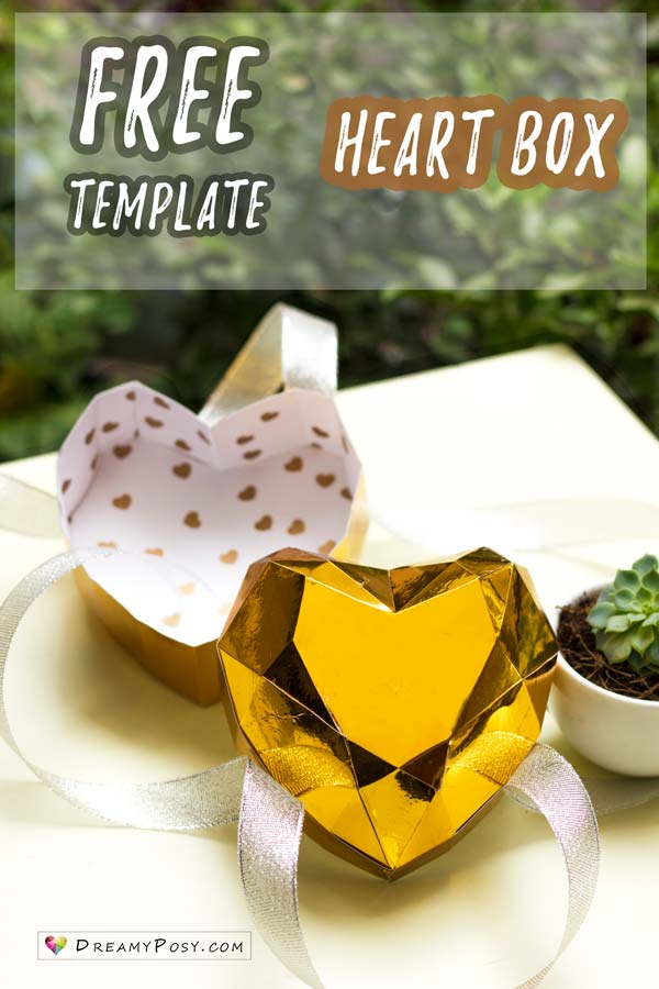 Hơw to make paper 3D heart box for Valentine's Day, free