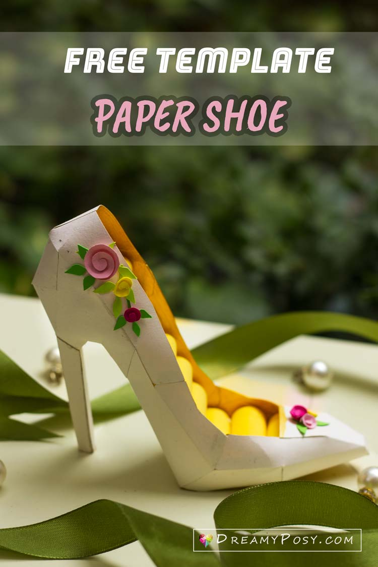 Free Template For Paper High Heel A Shoem Papershoe Paperhighheel