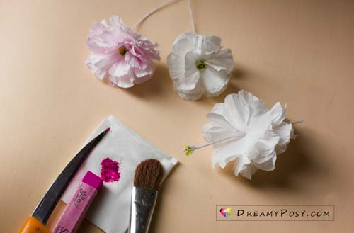 How to make paper cherry blossom from facial tissue so easy paper cherry blossom free tutorial and template paperflower flowertutorial freepattern mightylinksfo