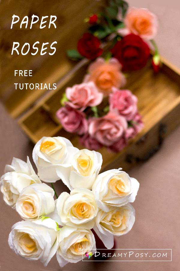 How to make paper roses, step by step tutorials, many kinds of materials, #paperrose #paperflowers #flowertutorial #flowertemplates