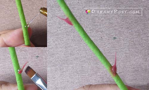 rose thorn making tutorial, #paperflower, #flowermaking #rosethorn