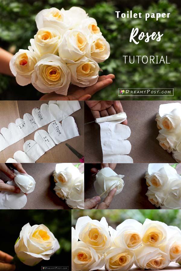 Quickly make a paper rose, #paperrose step by step tutorial, how to make paper flower, toilet paper crafts #paperflower #flowermaking #flowertutorial