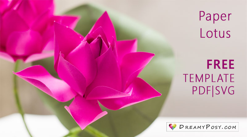 Mothers day gifts diy free templates and tutorials dreamyposy lotus flower making with paper free template mightylinksfo