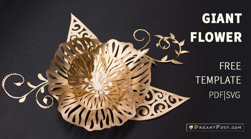 Paper crafts flowers free tutorial and templates #paperflowers #flowertemplates