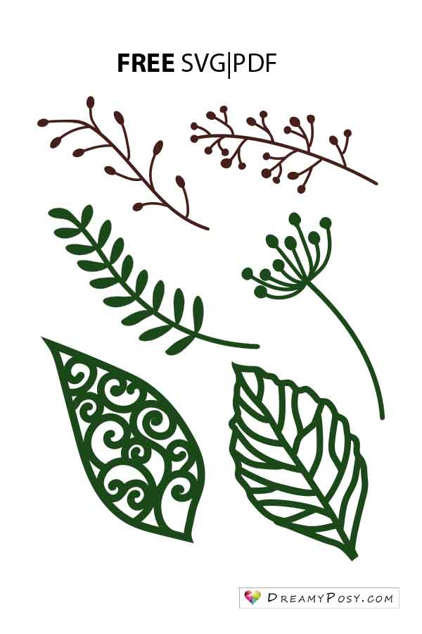 leaves templates for free