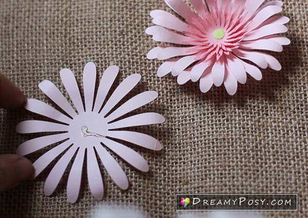 Paper flower diy, free template