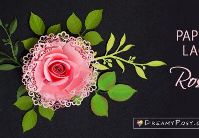 DIY Rose paper flowers