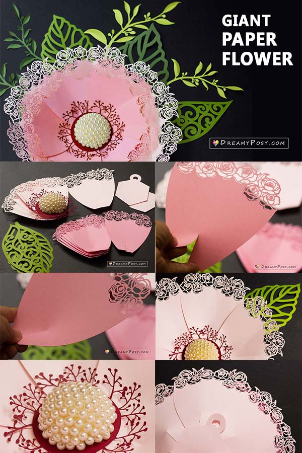 Giant paper flower tutorial