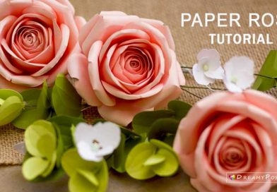 paper rose tutorial step by step