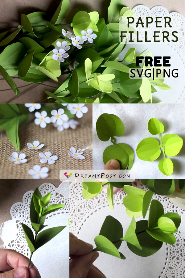 This tutorial show you how to make paper flower fillers, with free templates, perfect for your paper bouquet and centerpiece.