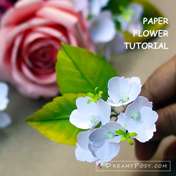 Paper flower hydrangea tutorial, step 3