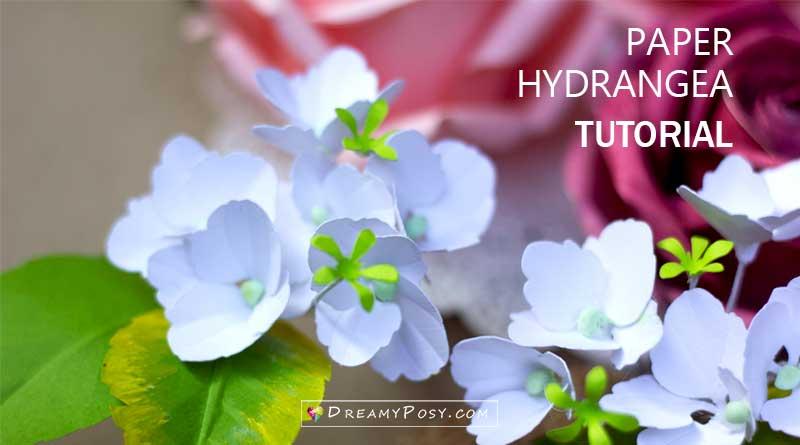 Paper Hydrangea tutorial