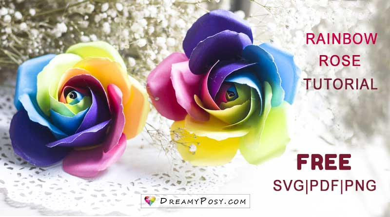 rainbow rose tutorial