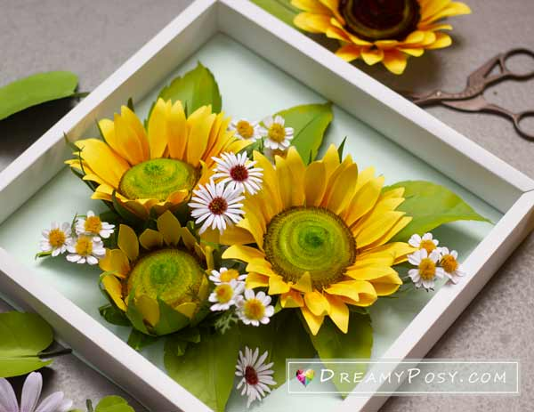 Paper flower tutorial and template