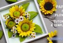 Paper sun flower tutorial and template